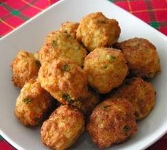 Bolas de pollo y queso