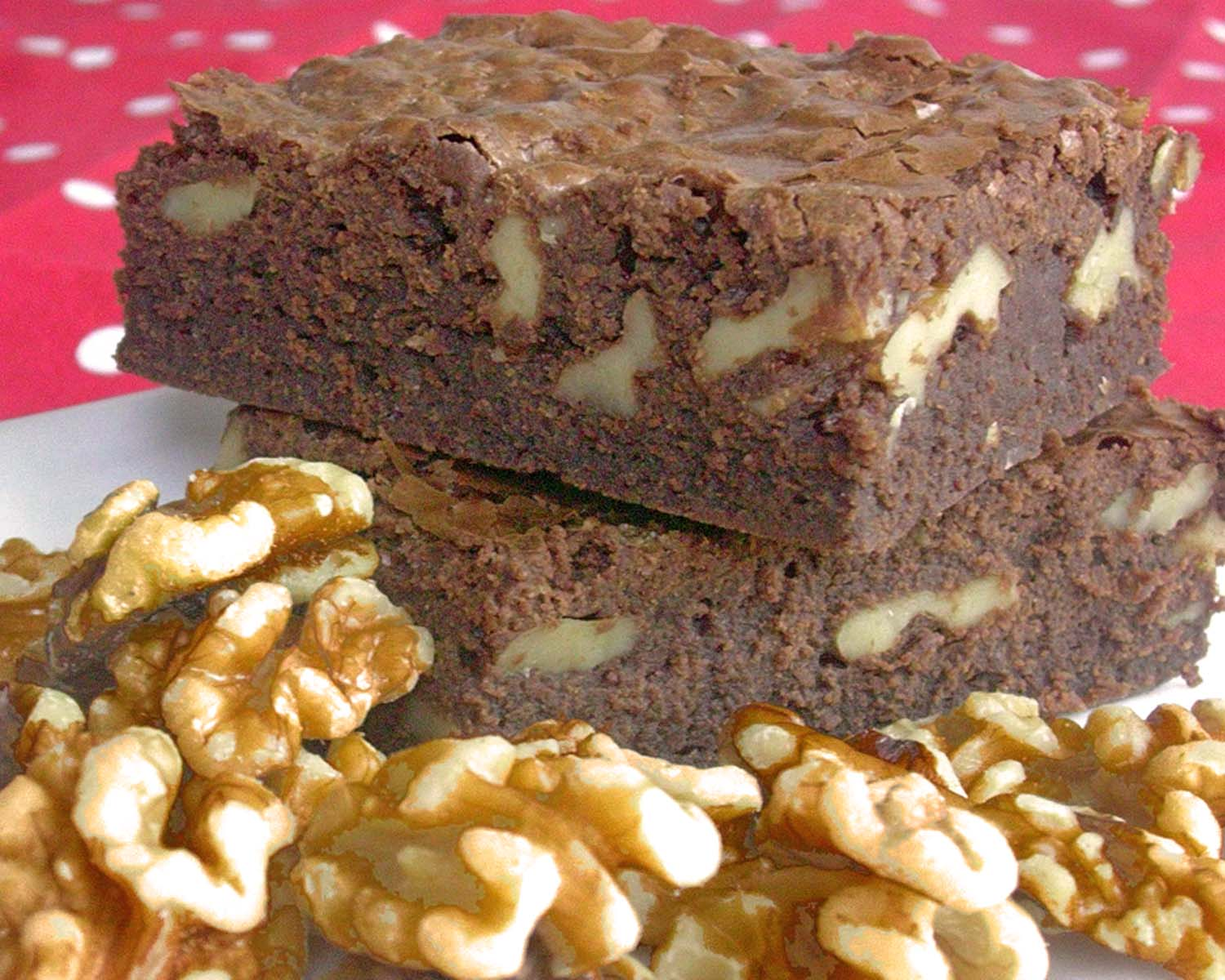 Brownies de chocolate con nueces