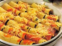 Canelones de pollo y verdura