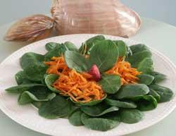 Ensalada de espinacas y zanahoria
