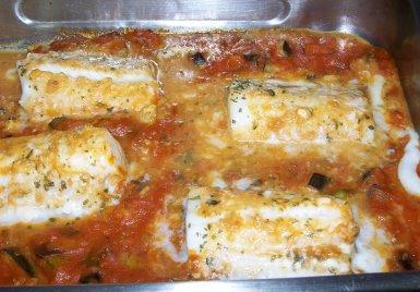 Merluza al horno receta de cocina for Merluza al horno facil