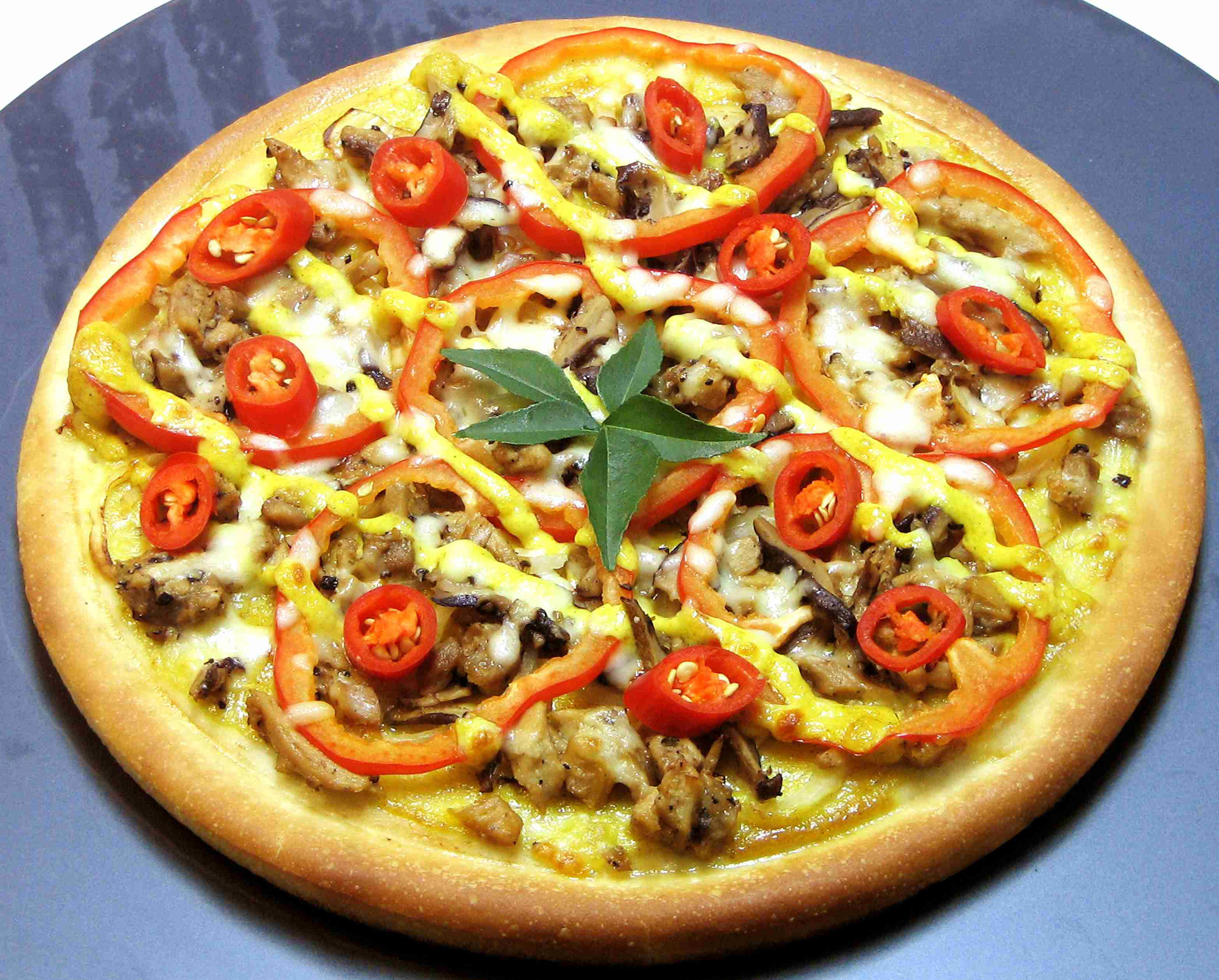 receta de Pizza al curry