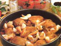 pollo-en-salsa-con-gambas