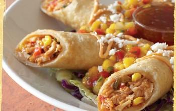 Burritos de pollo y frijoles