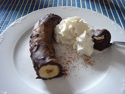 Plátanos con chocolate