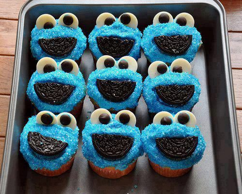 receta de Cookie Monster Muffins