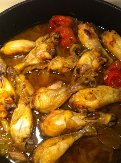 Pollo rustido - Receta de cocina