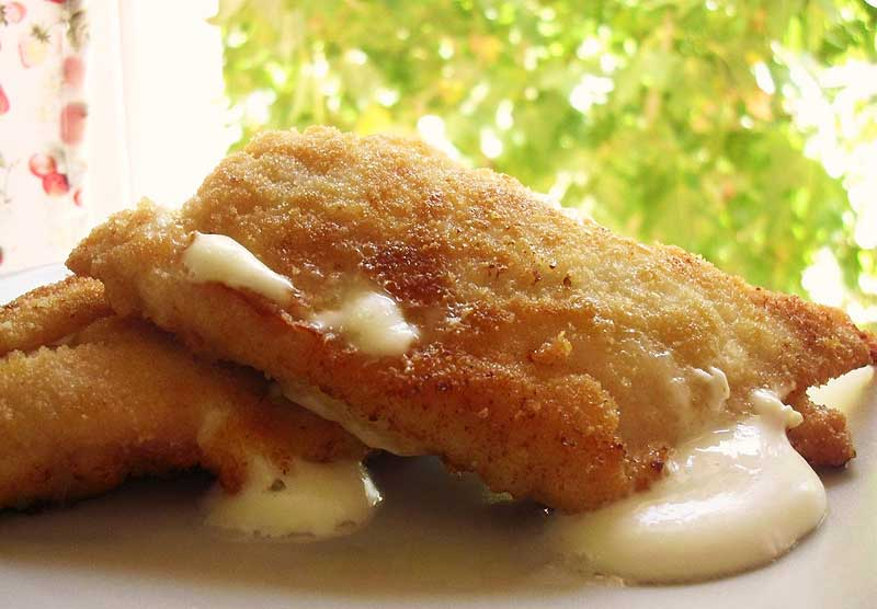 Libritos de pollo con queso