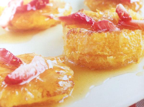 receta de Naranjas asadas con fresas