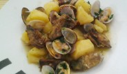patatas-con-alcachofas-y-almejas
