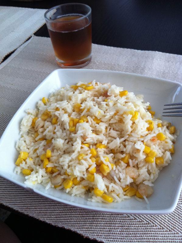 Salteado de arroz con gambas al ajillo receta de cocina - Salteado de arroz ...
