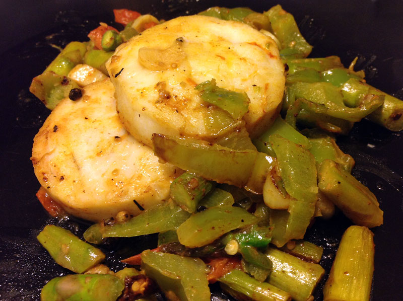 receta de Redondo de merluza con verduras