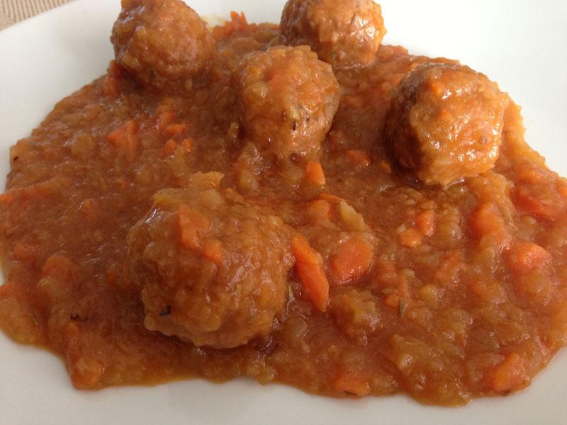 Alb ndigas con salsa de verduras receta de cocina for Albondigas de verduras