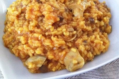 Arroz Caldoso Con Setas Y Pollo arroz con alcachofas y setas de cardo - receta de cocina