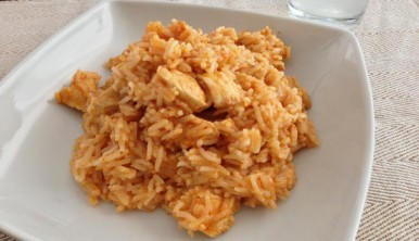 arroz con pollo al curry thai