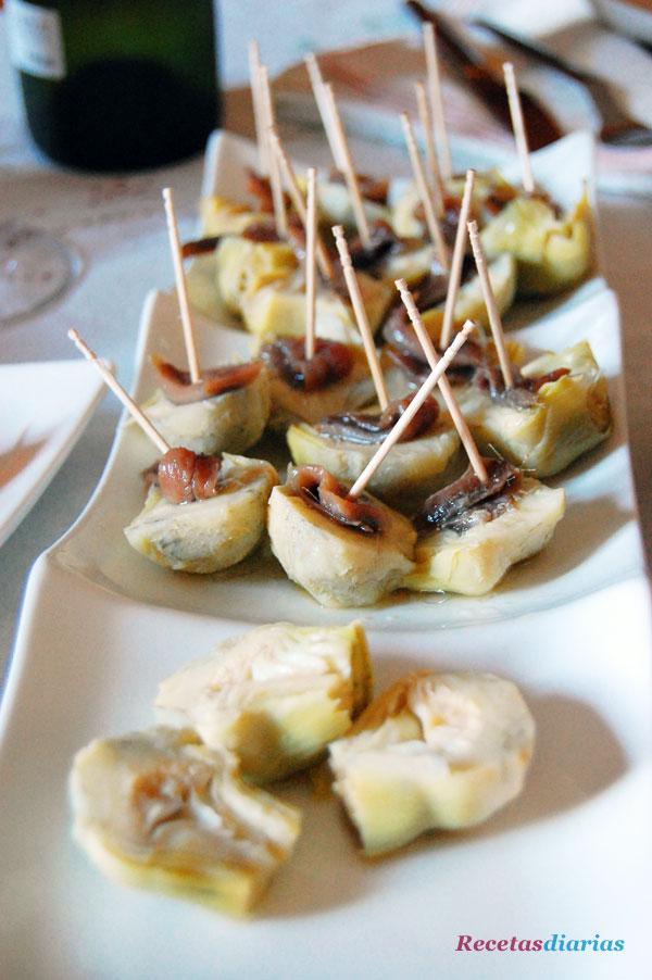 Corazones de alcachofas con anchoas receta de cocina - Sopa de alcachofas para adelgazar ...
