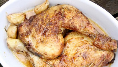 pollo con ajos tiernos