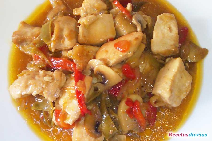 Pollo agridulce receta de cocina for Facil de cocinar